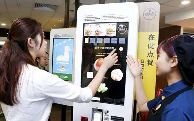点餐机-自助点餐机=1个收银员+1个服务员
